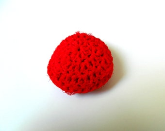 Nylon Pot Scrubber Red: 3.25 inch bathroom or kitchen nonstick friendly cleaning sponge practical gift idea for hard to buy for men & women