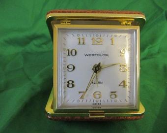 Vintage  Mechanical Travel Alarm Clock