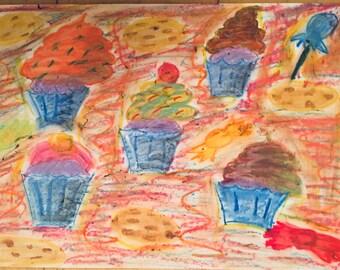 Cake shop - pastel art