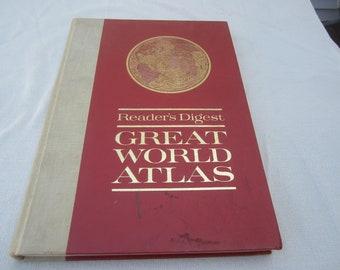 Maps atlas books old etsy 1963 great world atlasvintage mapsvintage atlashistorical mapsreaders digest world atlasrelief maps of earthold world mapslarge atlas gumiabroncs Gallery
