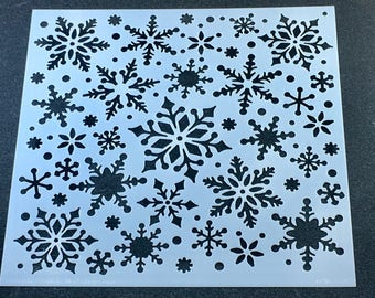 SNOWFLAKE Winter Holiday Laser Cut  TCW  6 x 6 Stencil