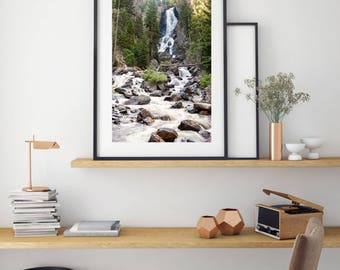 "Colorado Landscape Photography, Large Wall Art Print, Nature Photography, Waterfall Print, Rushing Morning Water, ""Wake Up Fish Creek"""