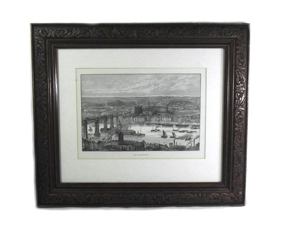 Antique Print of Newcastle upon Tyne