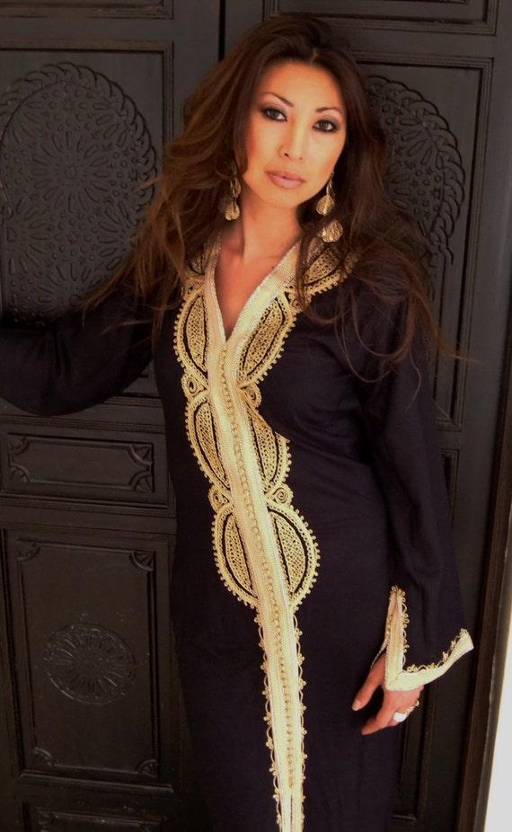 Black Maternity Caftan Kaftan -Lella -Luxury loungewear, Perfect as resortwear,spa robe, great for Christmas, Birthdays or Maternity Gifts