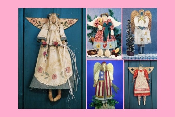 Mailed Cloth Doll Patterns A Collection of Beautiful Angels