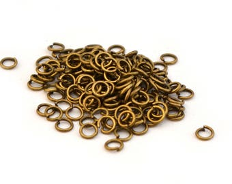 300 rings antique bronze 5 mm