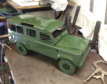 Landycue, landrover defender inspired bbq grill. Barbecue firepit