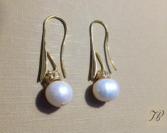 Pearl Earrings natural Pearl pendant, chic earrings, women, earrings jewelry earrings.