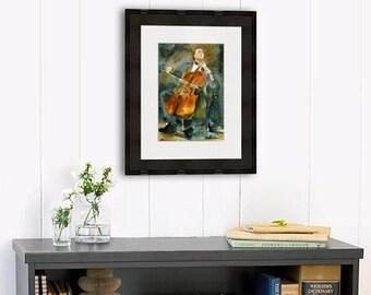 Yo Yo Ma | gifts for musicians | cellist cello PRINT |  watercolor painting | musical art | musical artwork | music artwork | music wall art