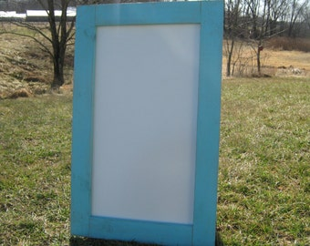 Rustic ocean blue dry erase board distressed light blue white board office whiteboard message center dry erase