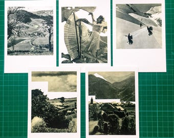 Postcard pack: Bavarian collages, set of five, ten or fifteen