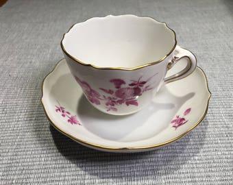 MEISSEN. Beautiful coffee cup and saucer MEISSEN - 1960.