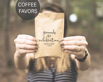 Personalized Wedding Gifts for Guests-Coffee Wedding Favors-Personalized Bulk Wedding Favors-Coffee Gifts for Guests-Grounds for Celebration