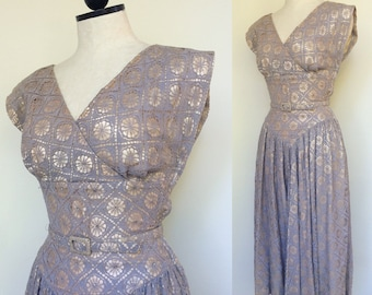 RESERVED for Melissa! 1950s Party Dress. Size Small. 1950s Prom Dress. 50s Circle Skirt Dress. 50s Full Skirt. 1950s Cocktail Dress.