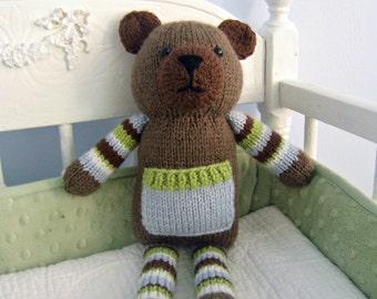 Amigurumi Knit Pocket Bear Pattern Digital Download
