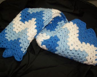 Blue & White Baby Afghan