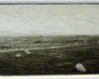 "Original art print ""Romney Marsh"". Mezzotint Edition of 100"