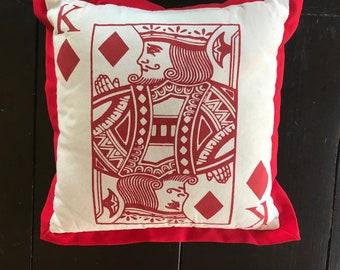 King Of Diamonds Sugar Skull Playing Card 11x14 Print