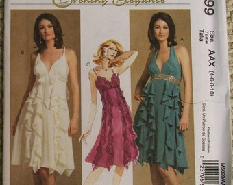 McCall's Pattern M5099 Evening Elegance Dresses Size 4-6-8-10