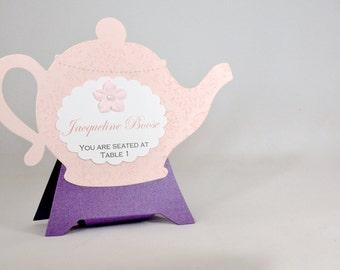 8 Teapot Tea Party Place Cards
