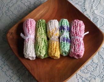 Chunky Wash Cloths (Spring Pastels)