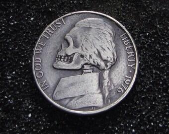 Hobo Nickel Skull By M.J. Petitdemange