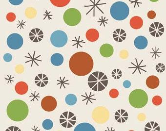 "On Sale! Riley Blake Designs ""Scoot"" by Deena Rutter Dots in Cream Fat Quarter"