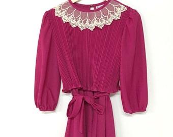 vintage Crepe + Lace mini dress
