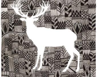 Deer Print 8x10