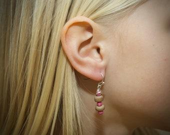 Pink Woodland Earrings