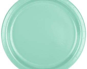 25 (9\ ) Fresh Mint Round Paper Plate Wedding Supplies Wedding  sc 1 st  Etsy & Mint paper plate | Etsy