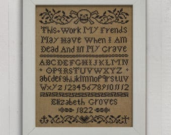 When I Am Dead and In My Grave: An Alphabet Sampler - PDF Pattern Booklet
