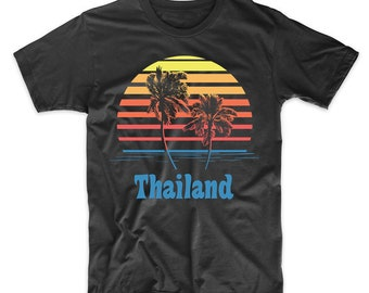 Thailand Sunset Palm Trees Beach Vacation T-Shirt