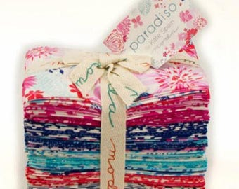 Paradiso Fat Eighth Bundle - 36 Different Prints - Floral Cotton Quilt Fabric - by Kate Spain for Moda Fabrics 27200-F8 (W3924)