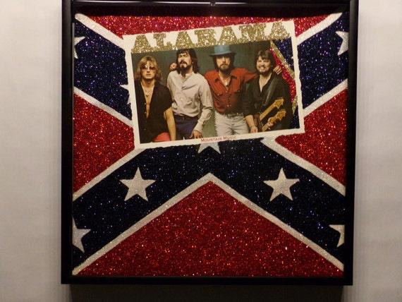 Glittered Record Album - Alabama - Mountain Music