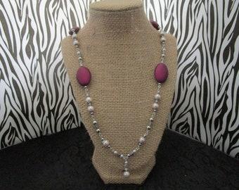 Light Pink & Dark Purple Necklace