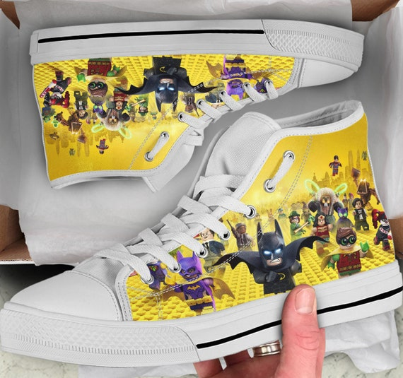 Lego Tops like Lego Shoes Sneakers Batman Batman Men's Women's Top Looks Colorful Lego Shoes sneakers Batman High Shoes Converse high rqU8rwC