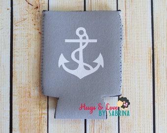 Anchor Can Cooler - Nautical theme