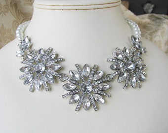 crystal, statement necklace, wedding necklace, bridal necklace, crystal wedding, wedding jewelry, statement jewelry, swarovski necklace
