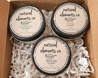 4oz Candle Trio~ Soy Candles~ Scented Candles~Rustic Farmhouse Decor