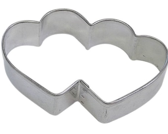 Double Heart Cookie Cutter 3.5'' NEW! Love Valentine
