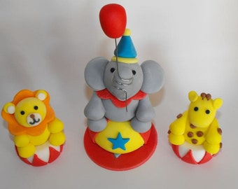 Edible Circus Animals Cake Toppers