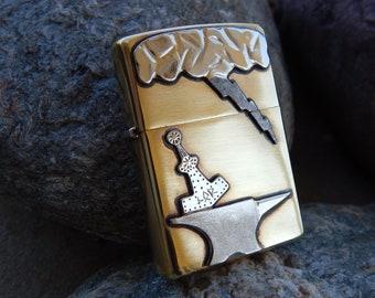 Thor's Hammer & Anvil Zippo Lighter