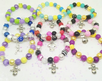 Custom soccer bracelets - Choose your colors!