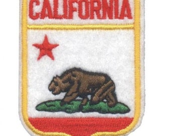 California Grizzly Bear Patch - Felt, Grizzly Bear (Iron on)