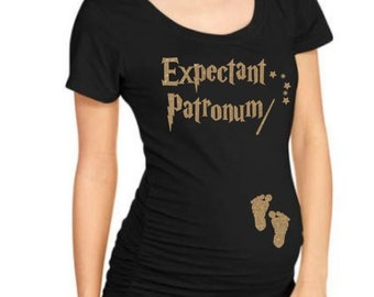 Expectant Patronum Baby On Board, Baby Announcement, Prego, Pregnant, Baby Girl, Boy, Harry Potter Inspired.