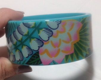 Avon Tropical Flowers Bangle Bracelet