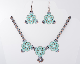 Triangulations Necklace Beading Pattern using Arcos and Minos Par Puca Beads - PDF Tutorial