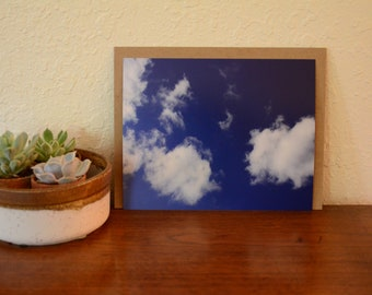 Photography Print, Blue Sky Photography, Cloud Photography