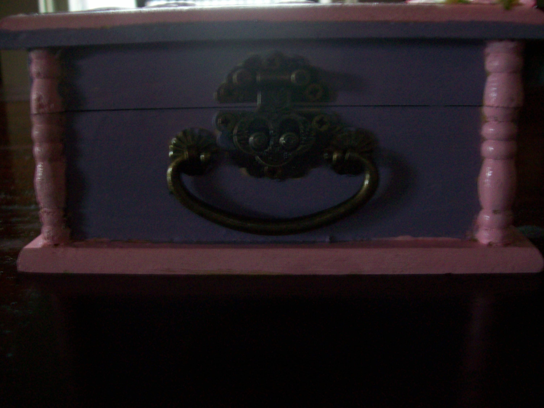 Keepsake boxBaby Girl Keepsake Boxpink and purple decoupaged box